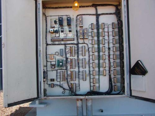 As found control cabinet layout.