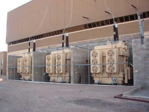 ETMI provided a turn-key IDD installation for the (3) single-phase GSU's at the Rawhide Generating station.
